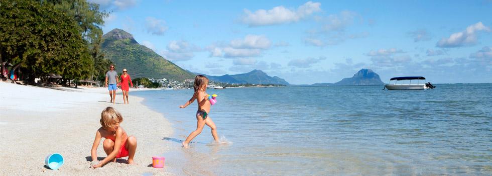 Coucher de soleil au Hilton Mauritius Resort à l'île Maurice