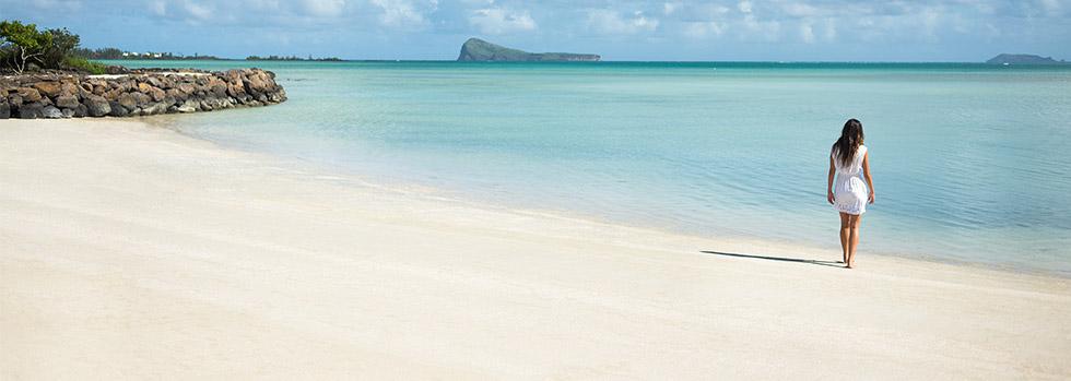 la plage du zilwa à l'île Maurice