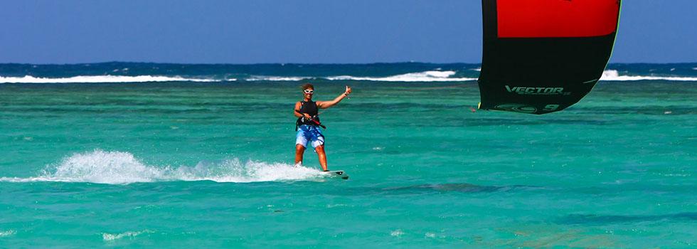 Kitesurf au Saint Géran Mauritius