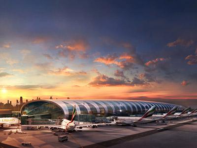 Terminal 3 de l'aéroport de Dubaï dédié à la flotte Emirates