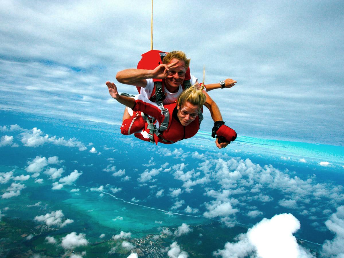 Saut en parachute à l'île Maurice