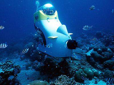 Scooter sous-marin à l'île Maurice