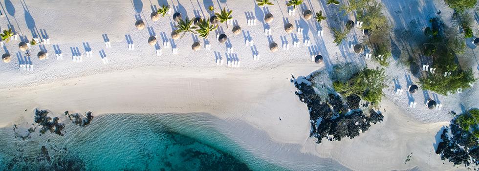 Piscine de l'hotel Long Beach à l'île Maurice