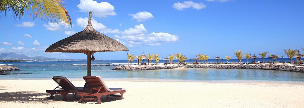 Plage de l'hôtel Intercontinental Resort Mauritius