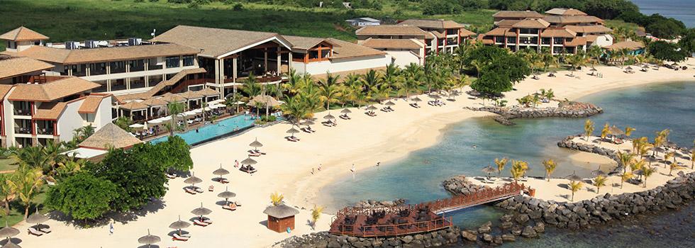 Vue aérienne de l'hôtel Intercontinental Resort Mauritius Travel