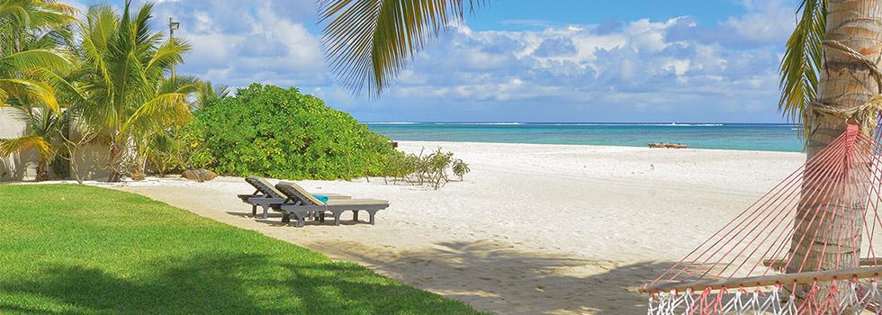 plage privée d'une villa du Dinarobin à l'île Maurice