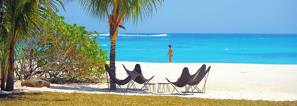 Accès plage - villa du Dinarobin - Ile Maurice