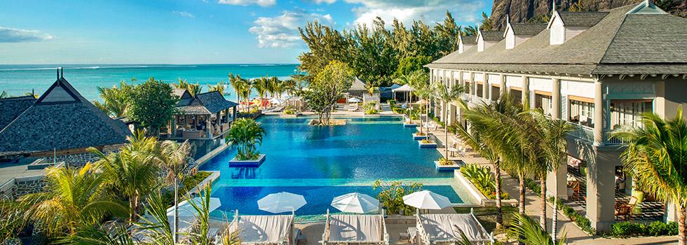 Piscine de l'hôtel JW Marriott Mauritius Resort