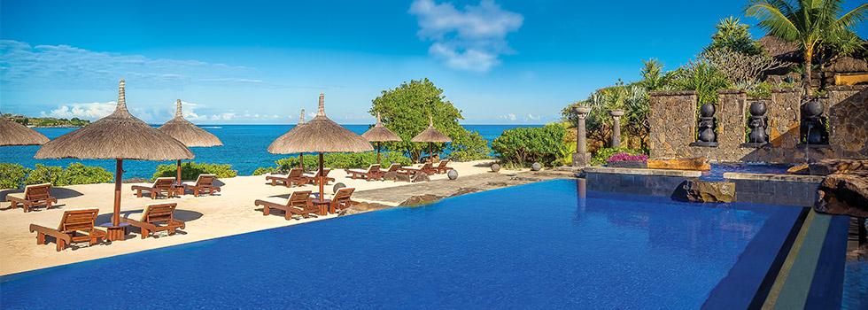 Hôtel The Oberoi à l'île Maurice la piscine turtle bay
