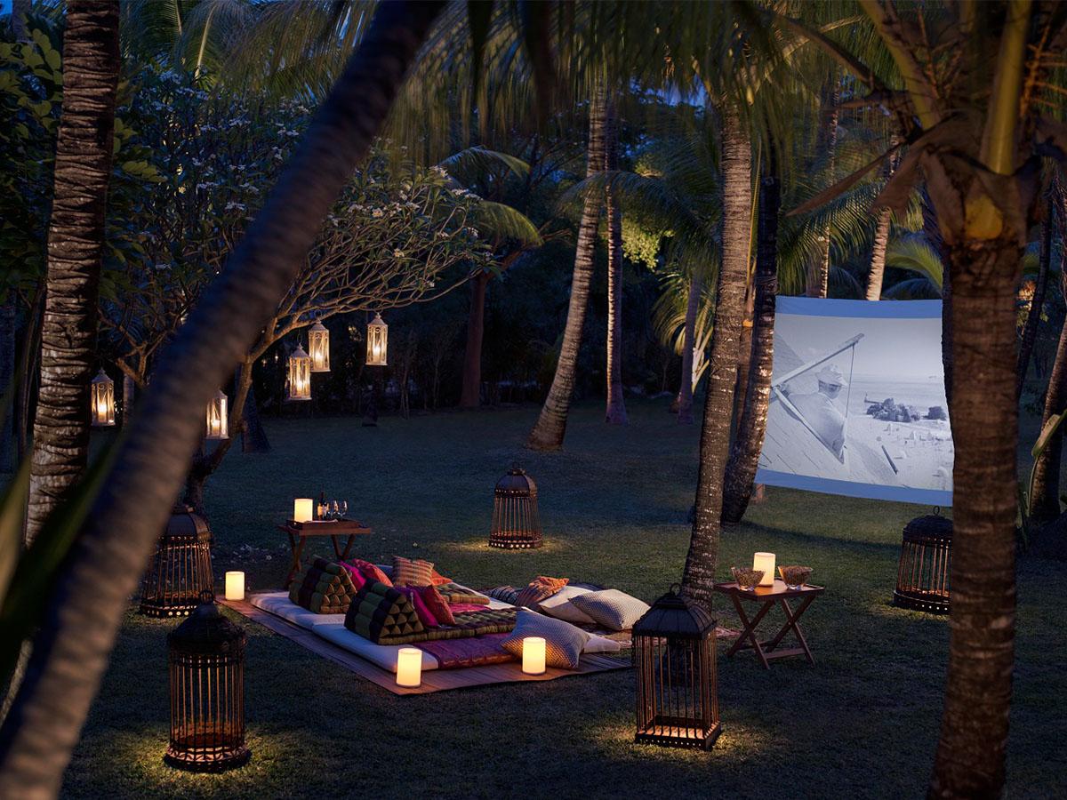 Le cinéma en plein-air au Shangri-La's Le Touessrok