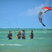 Kitesurf au Dinarobin
