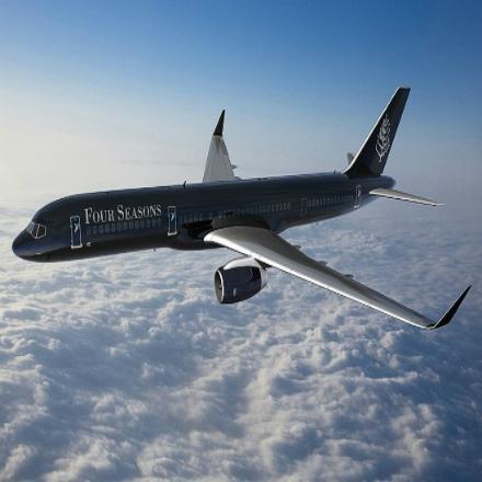 Le jet privé de Four Seasons à l'île Maurice