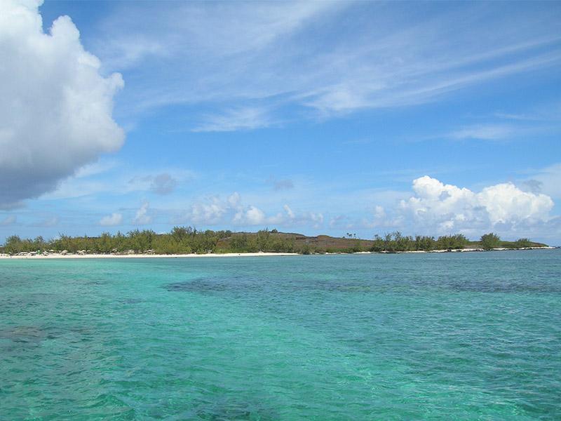 vue de l'île Plate au nord de l'ile maurice