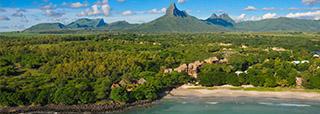 Vue aérienne du Tamarina Golf & Spa Boutique Hotel