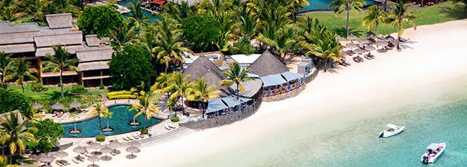 La plage de l'Heritage Awali Golf & Spa Resort