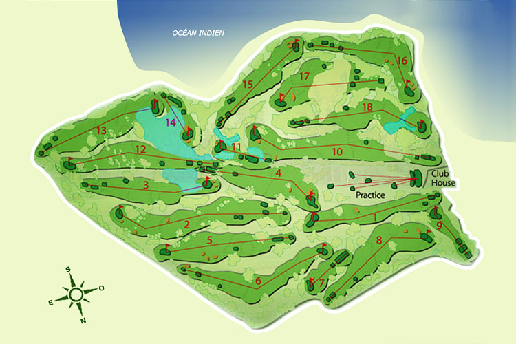 Carte Links Golf Course - parcours 18 trous